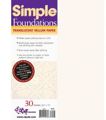 """Simple Foundations Translucent Vellum Paper-8-1/2""""X11"""" 30/Pkg"""