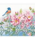 LanArte 13\u0027\u0027x10.5\u0027\u0027 Cotton Counted Cross Stitch Kit-Wren & Flowers