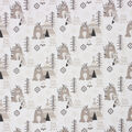 Super Snuggle Flannel Fabric-Tribal Baby Bear Allover