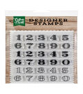Echo Park Paper Company 30 pk Designer Stamps-Classic Numbers