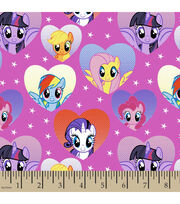 Hasbro My Little Pony Framed Ponies In Hearts Cotton Fabric, , hi-res