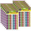 Teacher Created Resources Colorful Chalk Mini Stickers 12 Packs