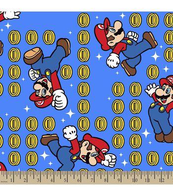 Nintendo® Mario Print Fabric-Coin Toss
