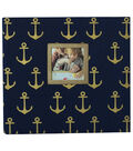 Park Lane 12\u0027\u0027x12\u0027\u0027 Scrapbook Album-Anchors on Blue