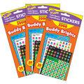 Buddy Brights Stickers Variety 2000 Per Pack, 3 Packs