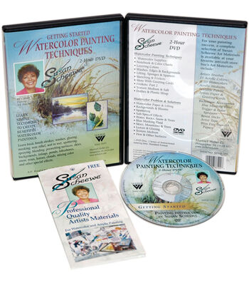 Susan Scheewe 2-Hour Painting DVD-Watercolor Techniques