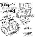 Sizzix Framelits Dies with Stamps-Thanks For Being You