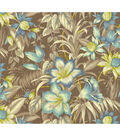 Tommy Bahama Lightweight Decor Fabric 54\u0022-Botanical Glow/Nutmeg