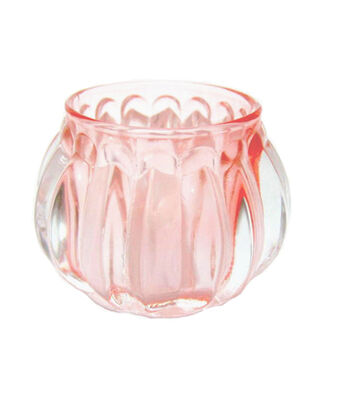 Save The Date Glass Candle Holder-Pink