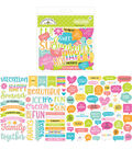 Doodlebug Design Sweet Summer Chit Chat 92 pk Die-Cuts