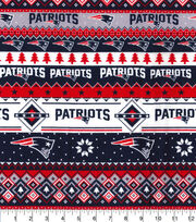 New England Patriots Christmas Flannel Fabric-Winter, , hi-res