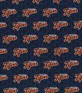 Detroit Tigers Cotton Fabric 58\u0022-Mini Print
