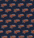 Detroit Tigers Cotton Fabric -Mini Print