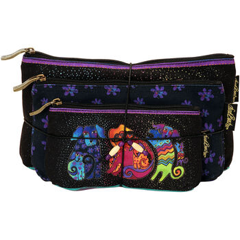 Laurel Burch Cosmetic Bag Set Of Three-Dog & Doggies