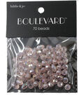 hildie & jo Boulevard 70 Pack Multi Sizes Glass Beads-Light Pink