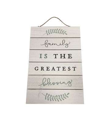 Simply Spring 23.6'' Wall Decor-Family is the Greatest Blessing