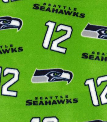"""Seattle Seahawks Fleece Fabric 58""""-Green"""