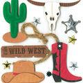 K&Company Dimensional Stickers-Wild West