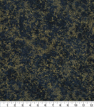 "Keepsake Calico Cotton Fabric 43""-Distressed Blender Foil Navy"