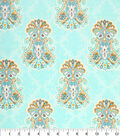 Keepsake Calico Cotton Fabric -Damask Medallion Blue