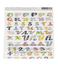 Paige Evans Whimsical Thickers Stickers-Epiphany Alpha/Multi Chipboard