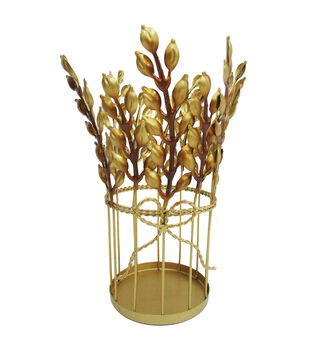 Simply Autumn Wheat Candle Holder