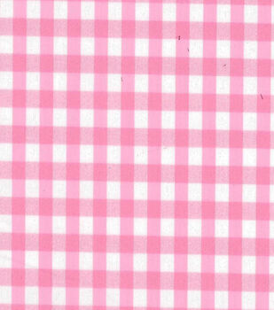 Stretch Gingham Check Fabric-Pink