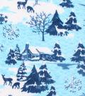 Anti-Pill Fleece Fabric 61\u0022-Deer Blue