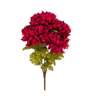 Blooming Autumn Water Resistant Mum Bush-Dark Berry