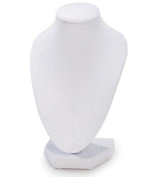"""Darice 3D Velvet Necklace Stand 6"""" White"""