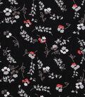 1930\u0027s Cotton Fabric 43\u0022-Floral Stems Black