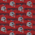 New England Patriots Cotton Fabric -Red