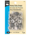 Dritz 5/8\u0022 Heavy Duty Snaps-Gunmetal