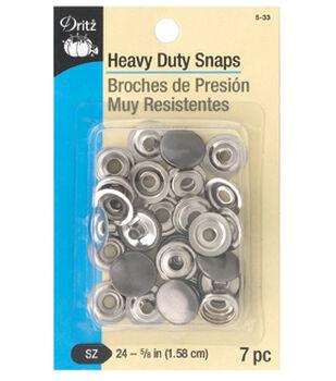 """Dritz 5/8"""" Heavy Duty Snaps-Gunmetal"""