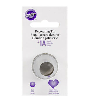 Wilton Decorating Tip-1A Round Carded