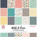 Colorbok 68lb Designer Single-Sided Paper 12\u0022X12\u0022-Wild & Free 25 Designs