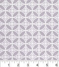 Snuggle Flannel Fabric -Gray Floral Geo