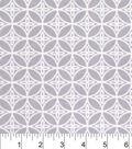 Snuggle Flannel Fabric 42\u0022-Gray Floral Geo