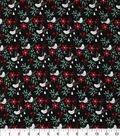 Christmas Cotton Fabric 43\u0022-Mini Cardinal & Floral