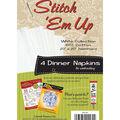 Stitch \u0027em Up Dinner Napkins For Embroidery 4/Pkg- White