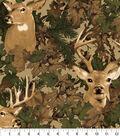 Anti-Pill Fleece Fabric 58\u0022-Deer In Leaf Camoflauge