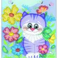 RIOLIS Create it Yourself 6\u0027\u0027x7\u0027\u0027 Beaded Embroidery Kit-Kitten