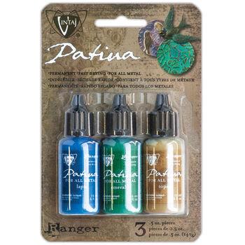 Ranger Vintaj Patina Kit-Faded Pickup-Lapid/Emerald/Topaz