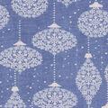 Christmas Cotton Fabric-Snowflake Ornaments Blue