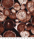 Anti-Pill Plush Fleece Fabric-Photo Real Birch Logs