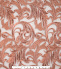 Heavy Scroll Fabric 52\u0022-Embroidery Rosegold