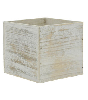 Wood Container 3''x3''-White
