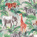 Novelty Cotton Fabric-Painted Safari Animals