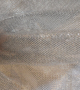 """The Witching Hour Halloween Fabric 59""""-Silver Foil Mesh"""