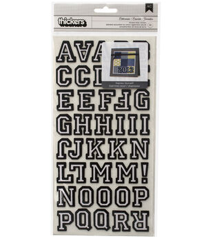 Thickers Flocked Chipboard Letters-Lettermen